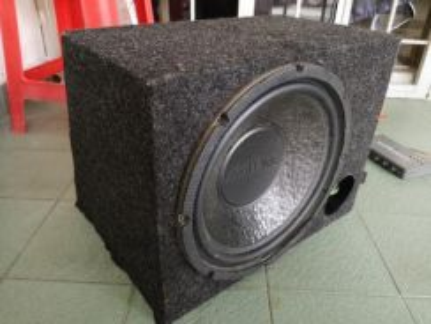 Car woofer & amplifier