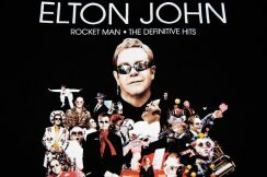 T Shirt ELTON JOHN - Rocket Man [L] NEW