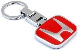 Honda red logo key chain