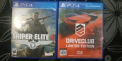 Cd games ps4 sniper elite & drive club
