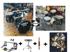 Superiorstar Drum Set with 4 cymbals&double pedal