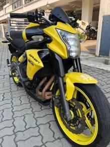 Kawasaki er6n yellow