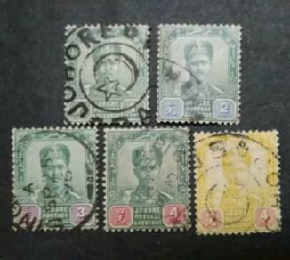 1896 Johore Straits Settlements Malaya 1c-4c Used