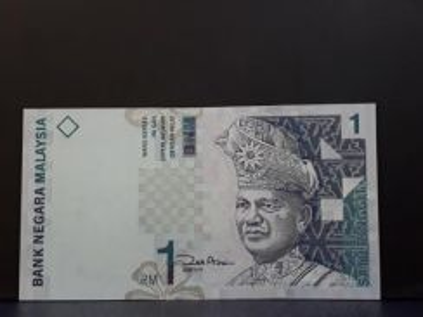 Duit lama Rm 1 Zeti Aziz AEY 0000271 Low Number