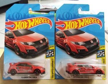 Hotwheels '16 Honda Civic Type R Red
