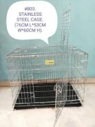 Pet Cat Dog Rabbit Cage Chrome Stainless Steel