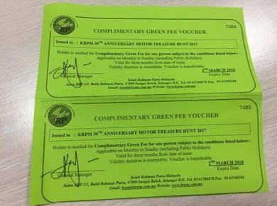 Kelab Rahman Putra Malaysia Golf Green Fee Voucher