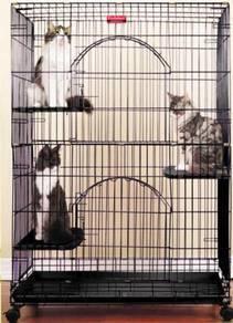 Sangkar kucing 3 tingkat HUGE NEWPRO