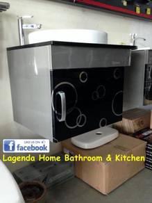 Ceramic basin s/s cabinet