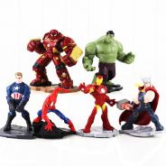 6Pcs Age of Ultron Hulk iron man captain america h