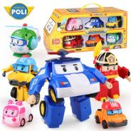 6 In 1 Deformation Robocar Poli Amber and Friends