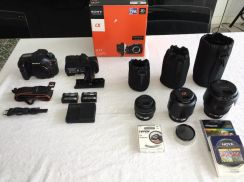 SONY A77 camera set with original grip & 3 lenses