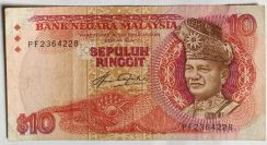 Malaysia Currency 10 note