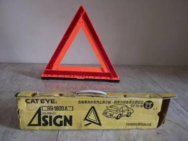 Cat Eye Emergency Warning Triangle New