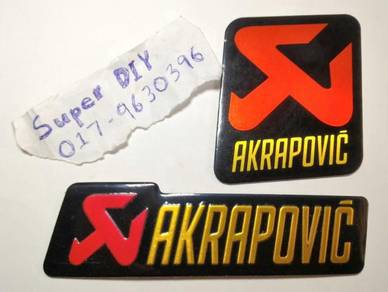 Akrapovic Logo motor gp exhaust aluminium sticker