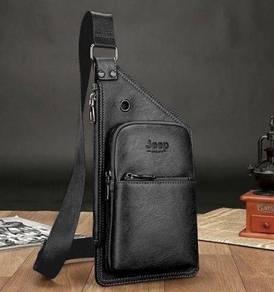 Genuine Leather Jeep Sling Bag For Men