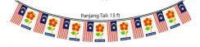 Set Malaysia Hibiscus Flagline(ND-0087)