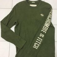 Abercrombie long sleeve army green