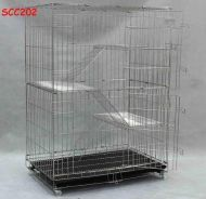 Stainless Steel Cat Cage 3 Tingkat SCC202