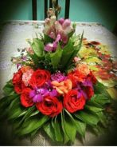 Gubahan hataran bunga hidup