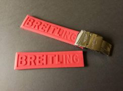BREITLING 22mm Red Rubber Watch Strap