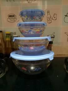 Glassware Bowl - 4 Piece Set Stackable