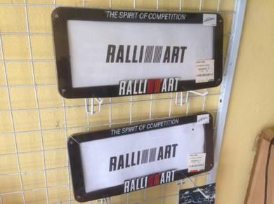 Ralliart nombor plate frame