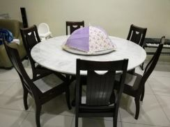 Marble 8 chairs dining tables for sale