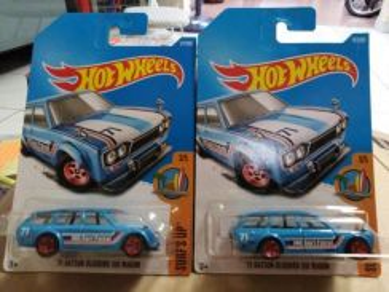 Hotwheels '71 Datsun Bluebird 510 Wagon blue