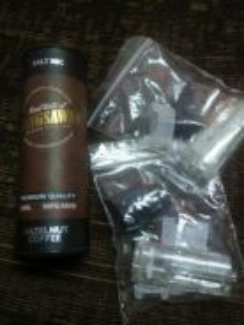 2 Pod kosong dan perisa hazelnut coffee