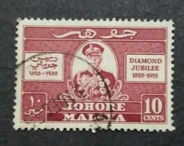 Malaya 1955 Johore Diamond Jubilee - 1v Used