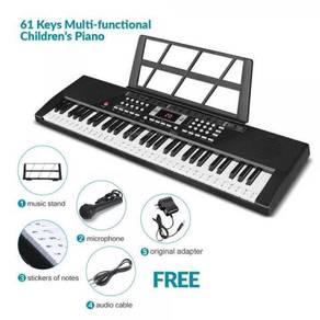 61 Keys Children Learning Keyboard - Black