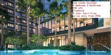 New condo kajang 2 (only 293k for 4 bedroom )