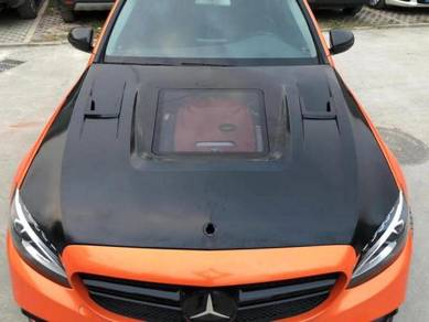 W205 C63 GT AMG Front Hood Bonnet Tempered Glass