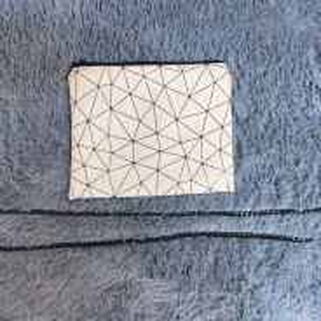 White Grid Pouch