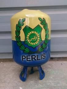 Tabung duit tong gas aircond (airbrush) PERLIS