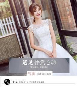 New Wedding white gown dress