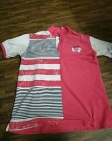 Baju t-shirt berkolar(colar t-shirt)