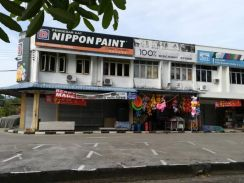Double storey shop house at Sematan Town Lundu Kuching
