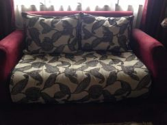 Fabric sofa 3+2 with extra cushion cover