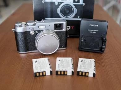 Fujifilm X100T Complete Set 3 Ori Batteries