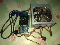 Power supply + graphic card gt210 + vga cable