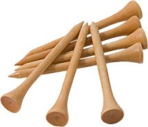 50 pc Wooden Golf Tees 83mm 3 1/4