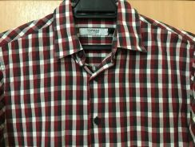 Topman Long Sleeve Checked Shirt