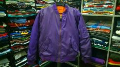 Flight jacket purple