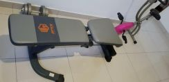 Sit-up bench & exercise bicycle