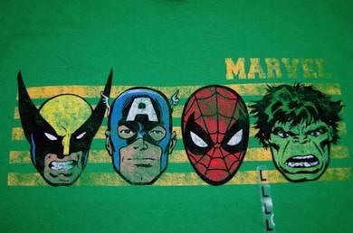 T Shirt Spiderman Hulk Avenger & Wolverine [L] NEW