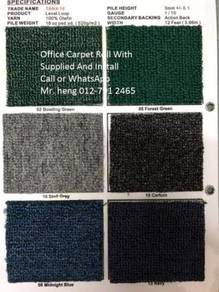 Natural Office Carpet Roll with install h74656