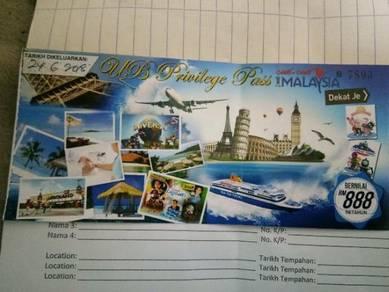 Holidays voucher ticket