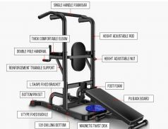 Mutltifunctional Six Pack Dip Tower Barbell Bench